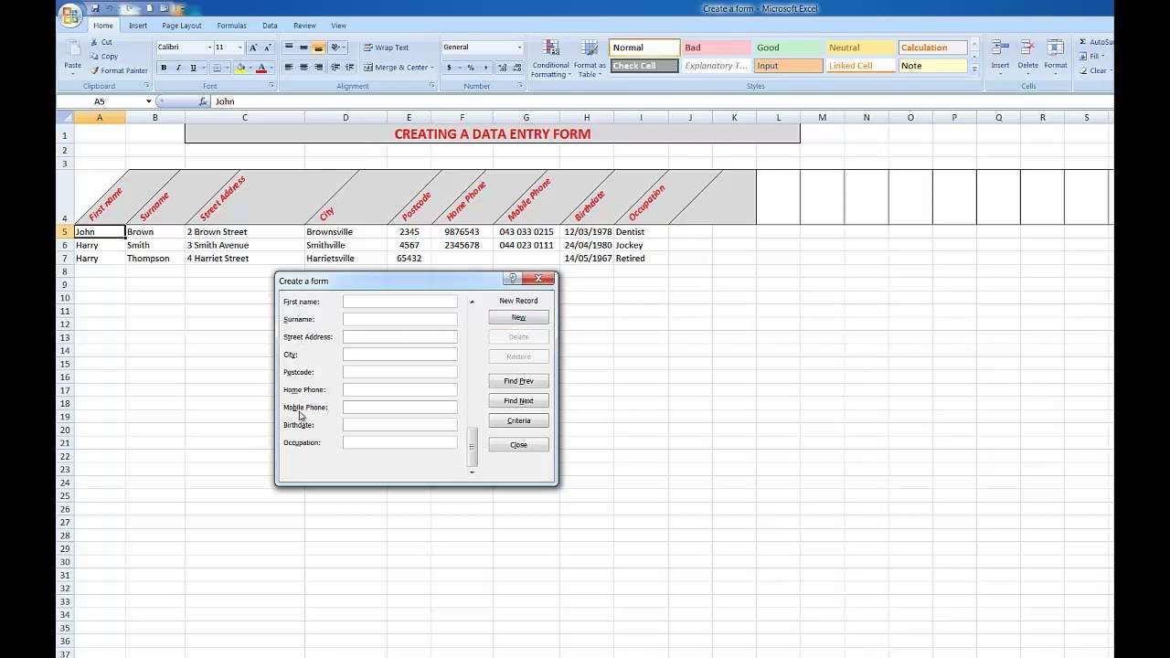 data-entry-form-vba