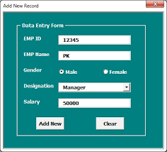 userform-data entry