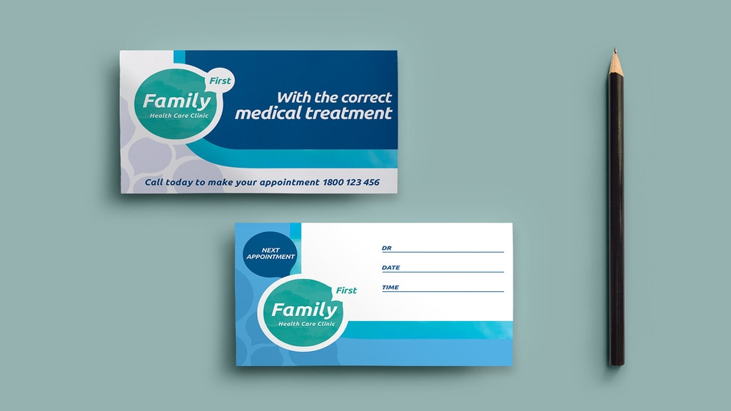 appointment card design
