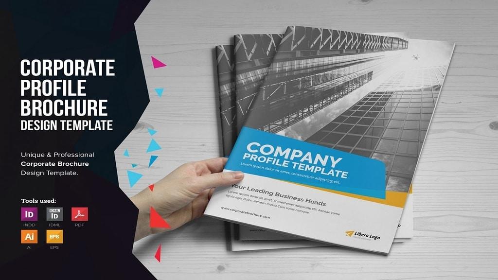 company profile template brochure design