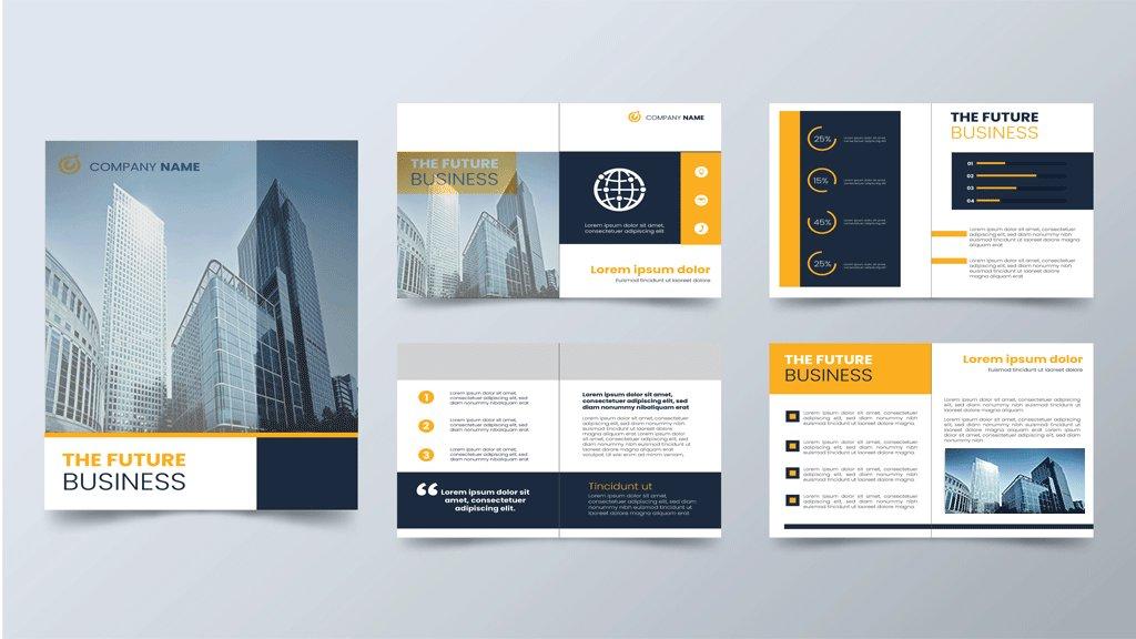 the future business brochure design