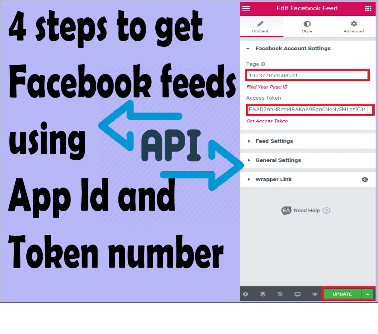 You are currently viewing 4 steps to get facebook feeds using app id and token number