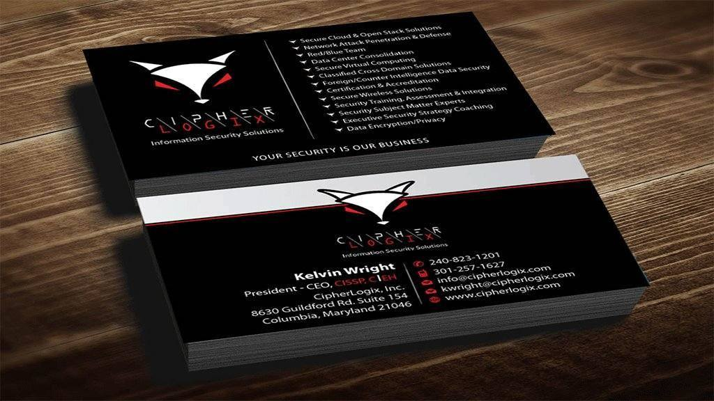 Double side business card design