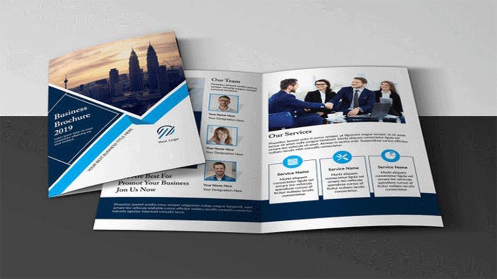 single fold brochure design