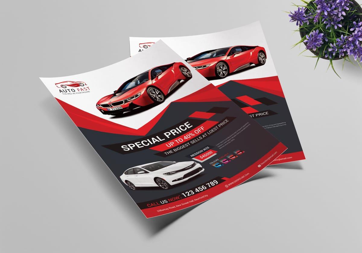 Car sales flyer design
