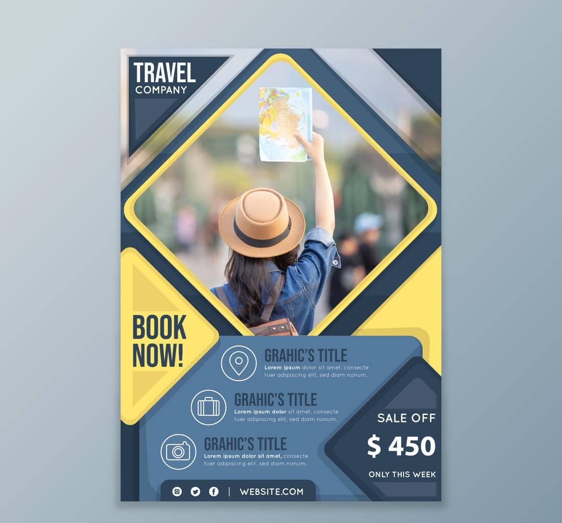 Travel company flyer