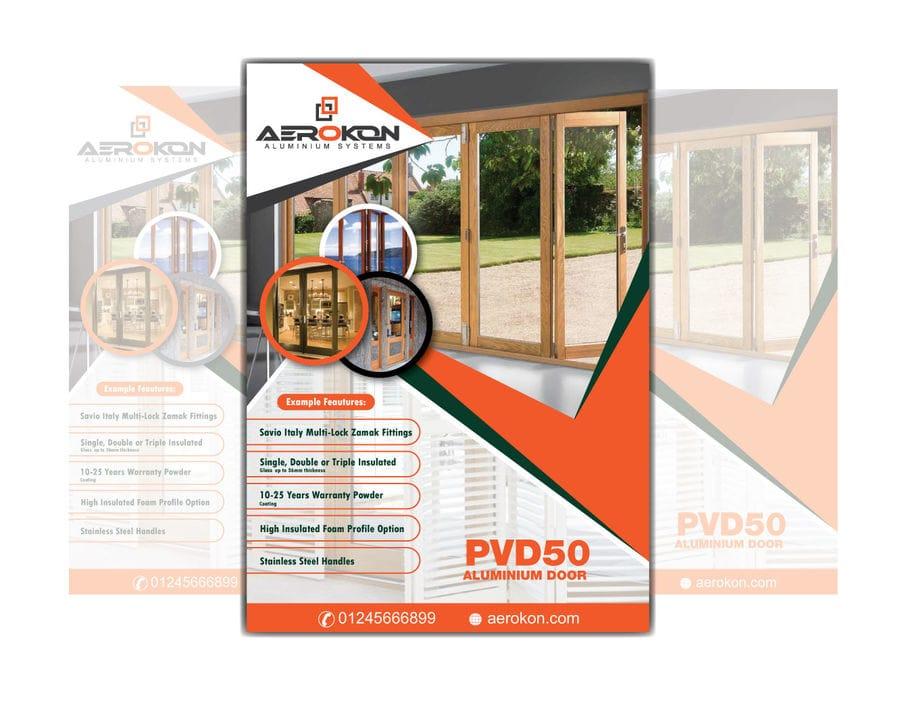 aluminium door flyer design