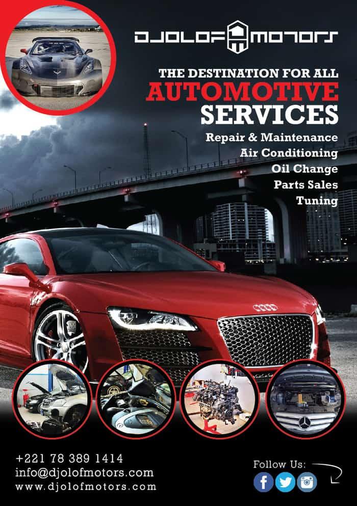 automotive services flyer design