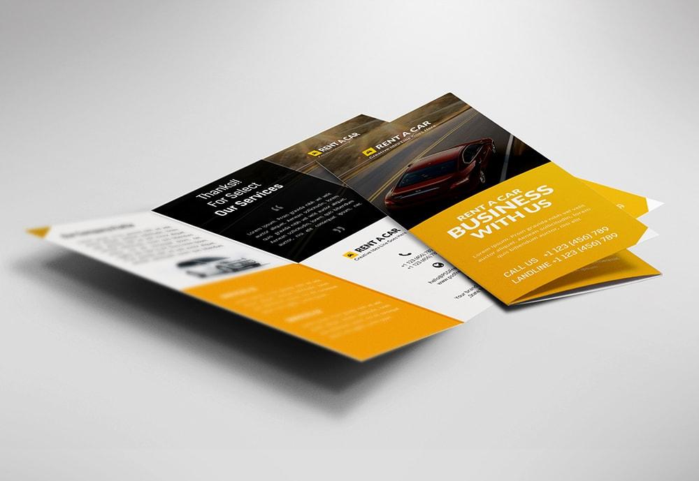 car business brochure design