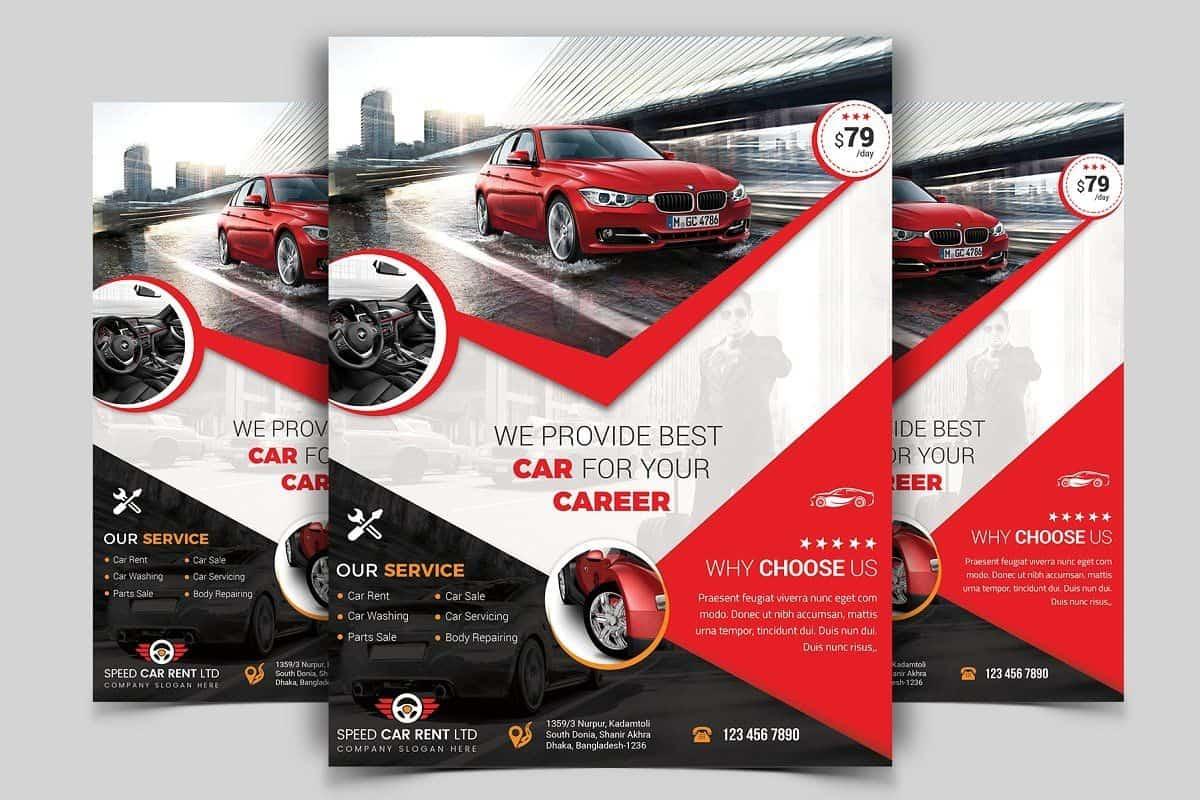 car dealer flyer design