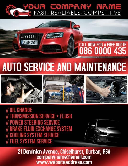 car maintenance flyer