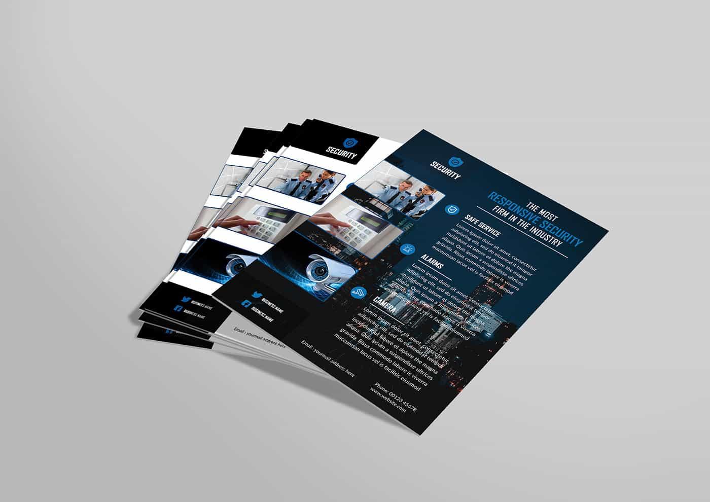 cctv flyer design
