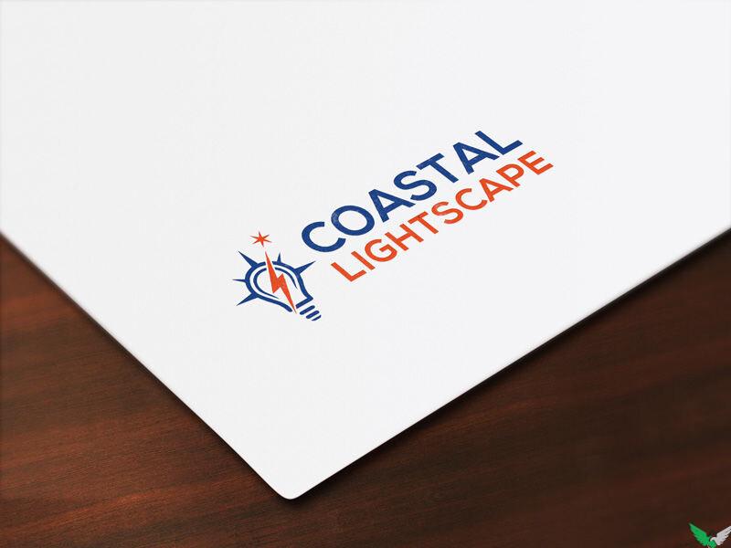 costal lightscape logo design