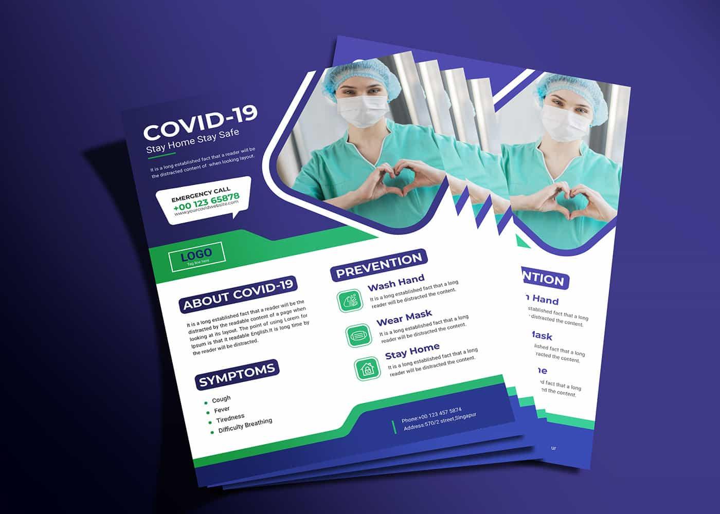 covid flyer design