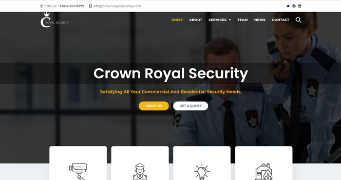 crown-royal-security-website-template