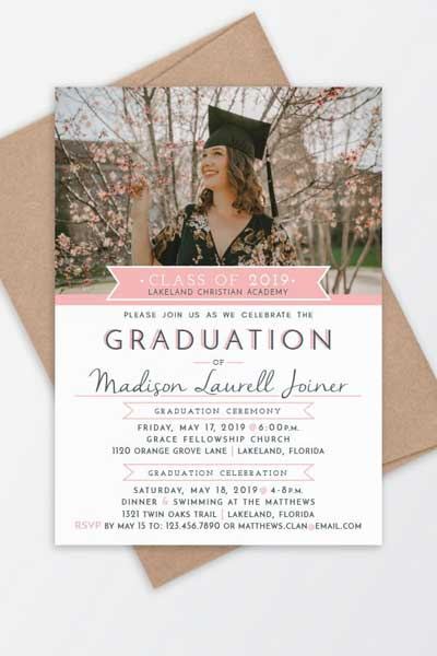 graduation cermoney card