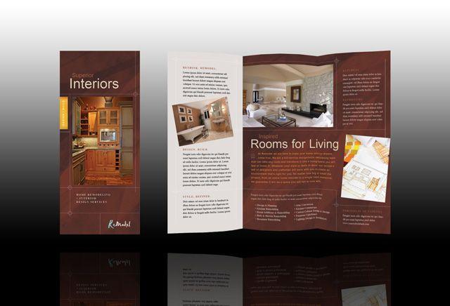 home interior flyer design