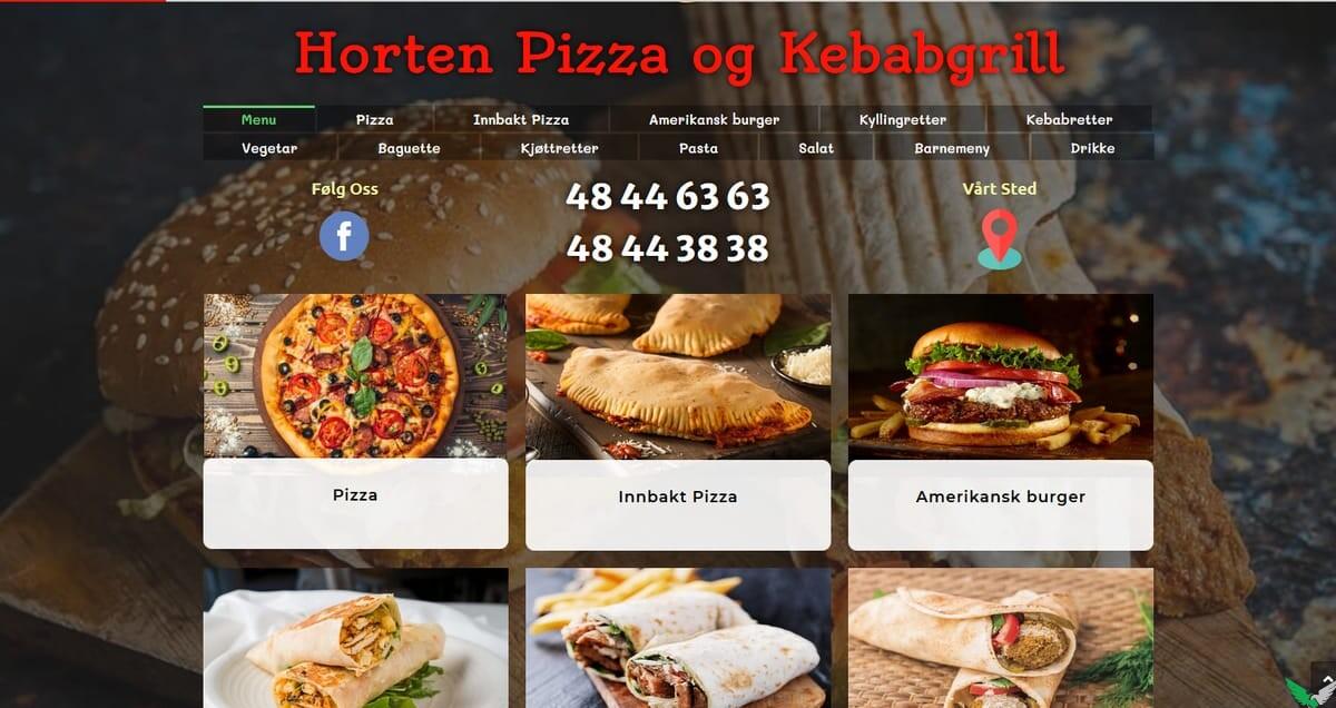 horten-pizza-website