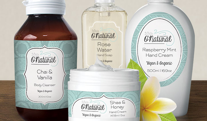 qnatural label design
