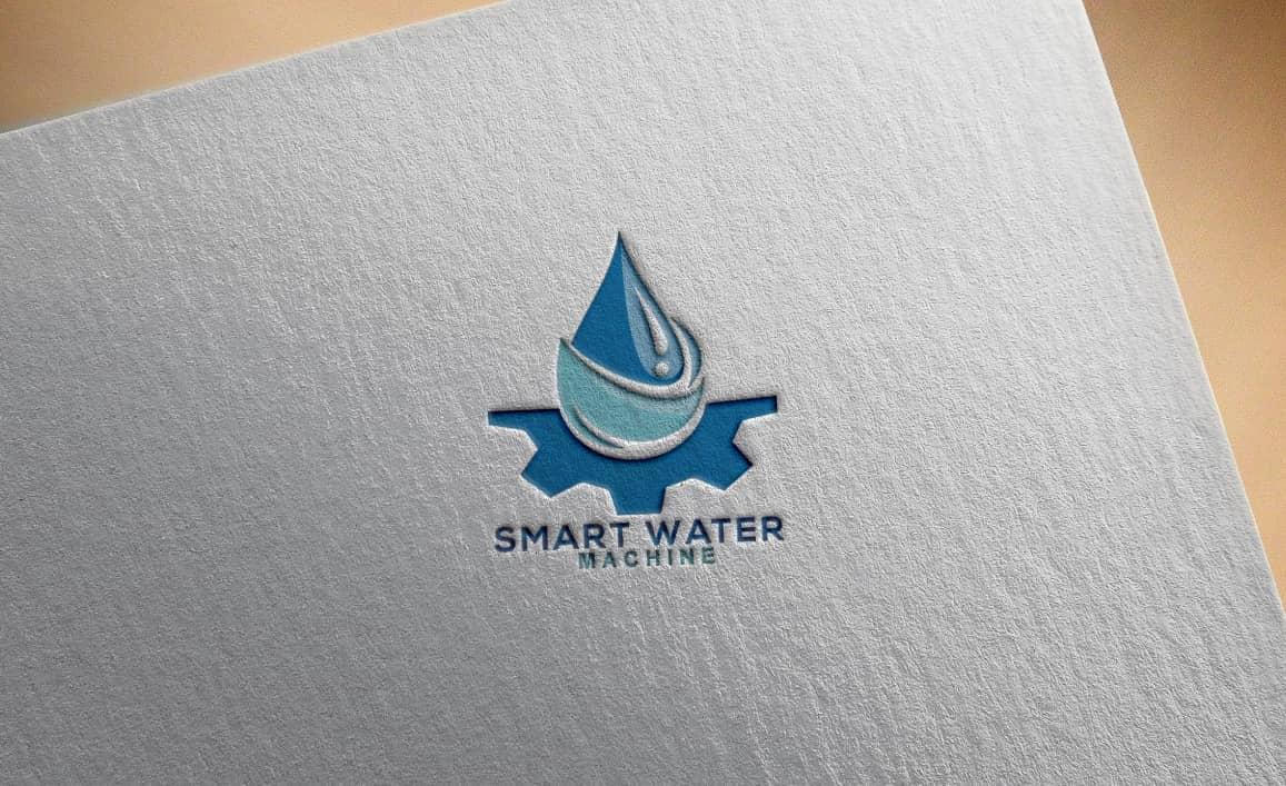 smart water machine logo design