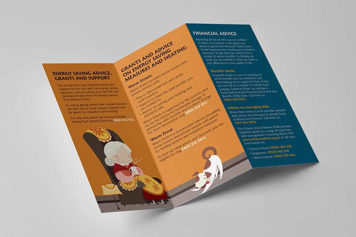 storybord trifold brochure