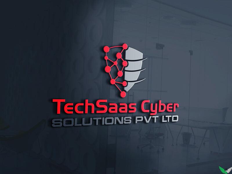 techsaas cyber logo design