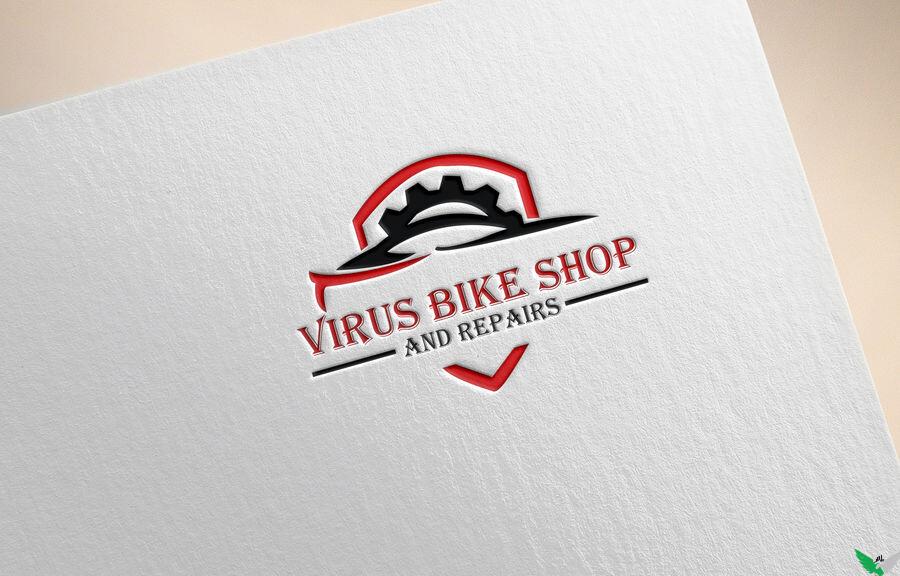 virus bike repair logo