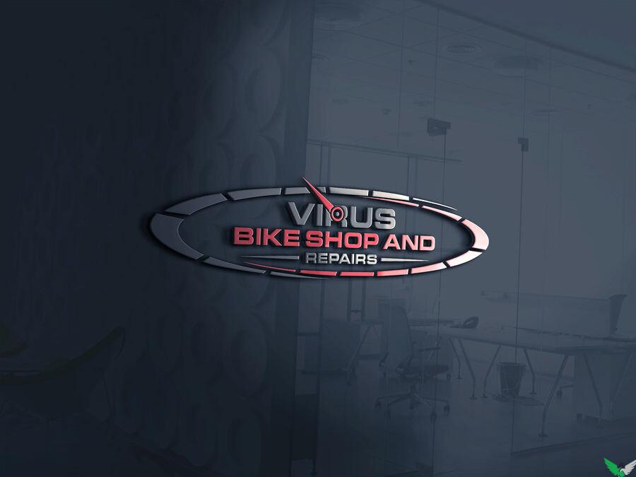virus bike shop logo