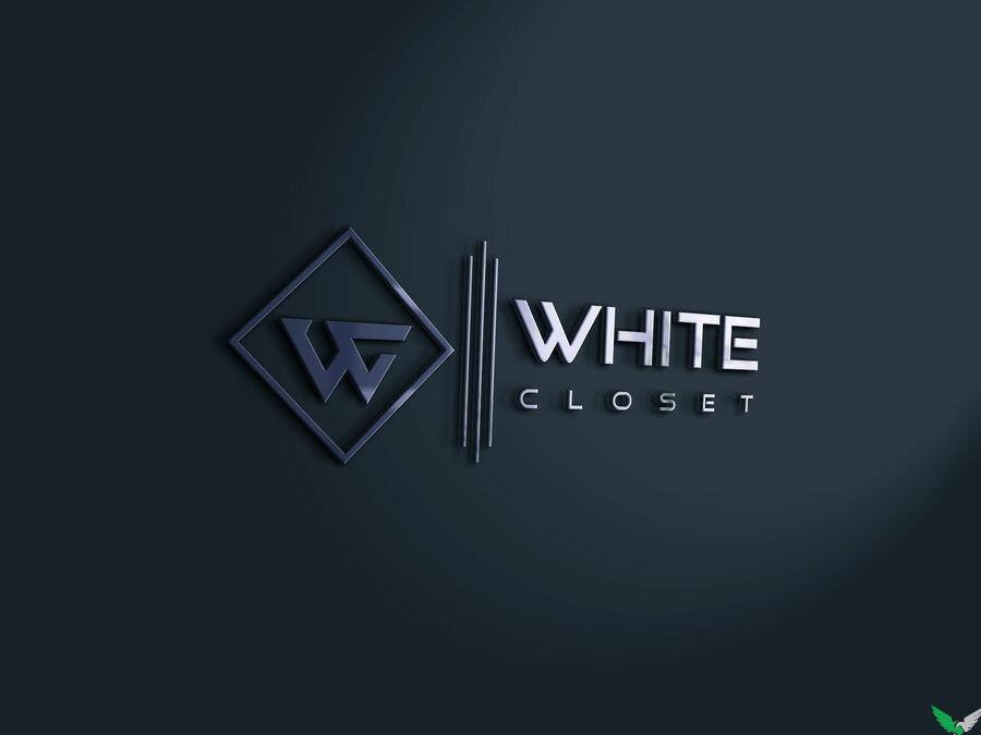 white closet dressing logo