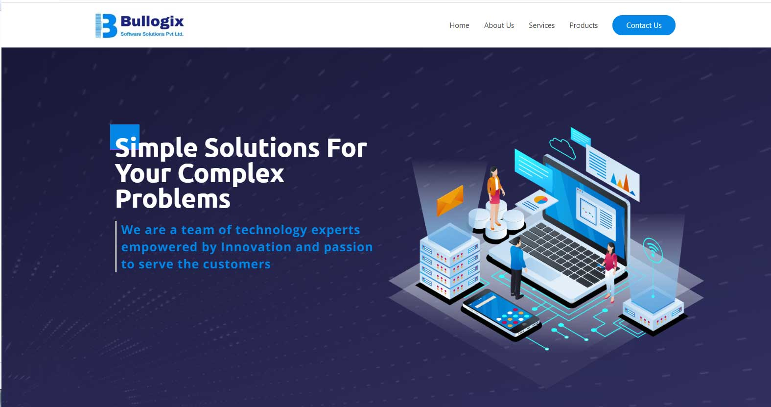 Bullogix-Software-Solutions-Homepage