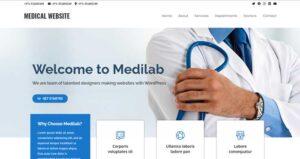 Medi-Lab-Hero-template