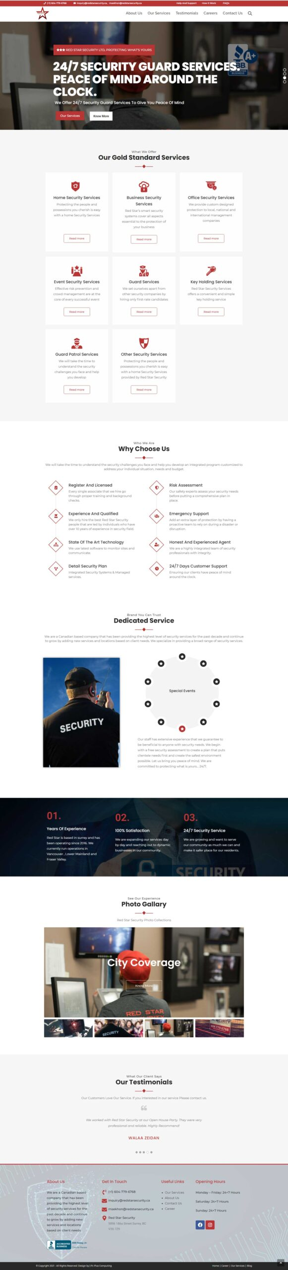 red-star-security-homepage