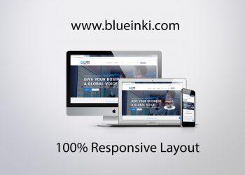 blueinki.com responsive layout design