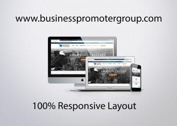 business promoter group website mockup