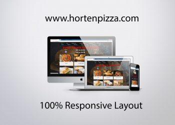 hortenpizza.com mockup design